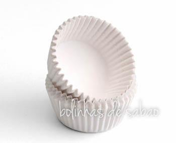 Cupcakes Lisos 60 unidades - Branco