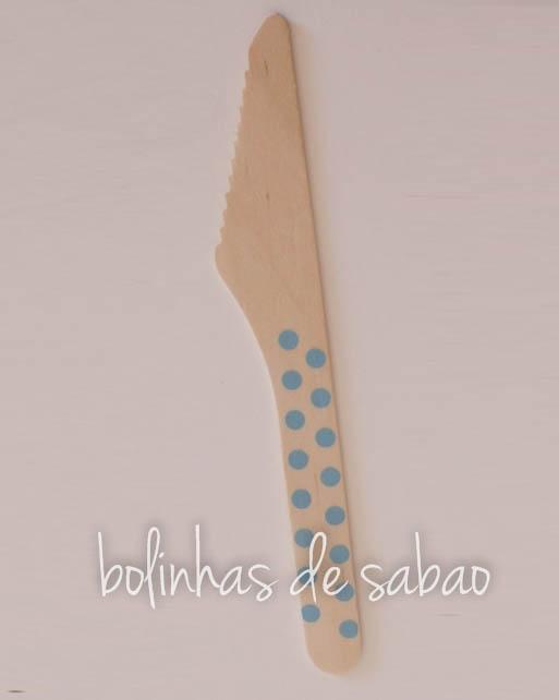 Facas Bolinhas 10 uniadades - Azul Claro