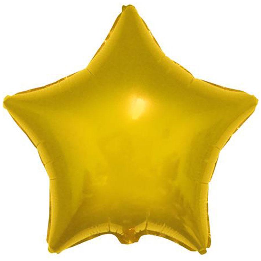 """Balão Foil Estrela Dourado - 18 """""""