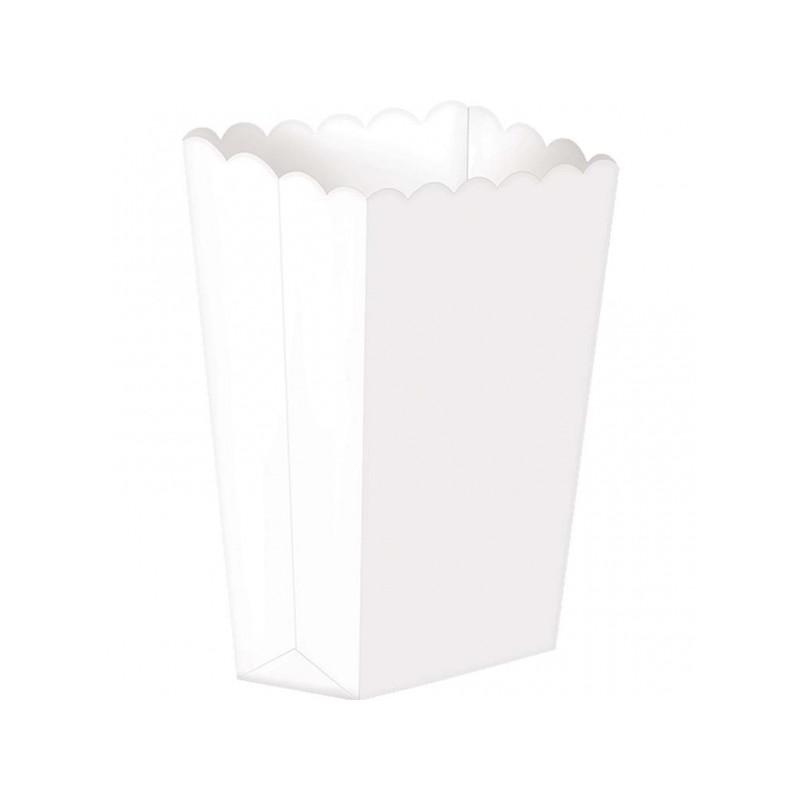Caixas de Pipocas Lisas 5 unidades -  Branco