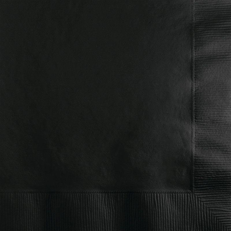 Guardanapos lisos preto - 20 Unidades