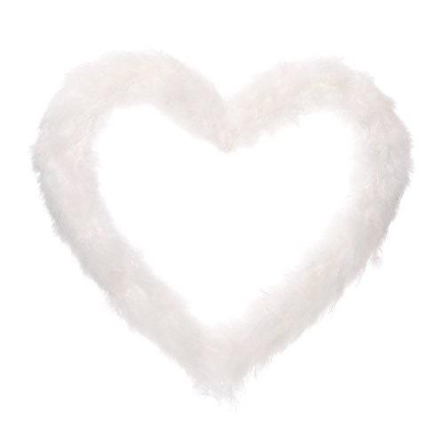 Grinalda Coração de Penas - 38 cm