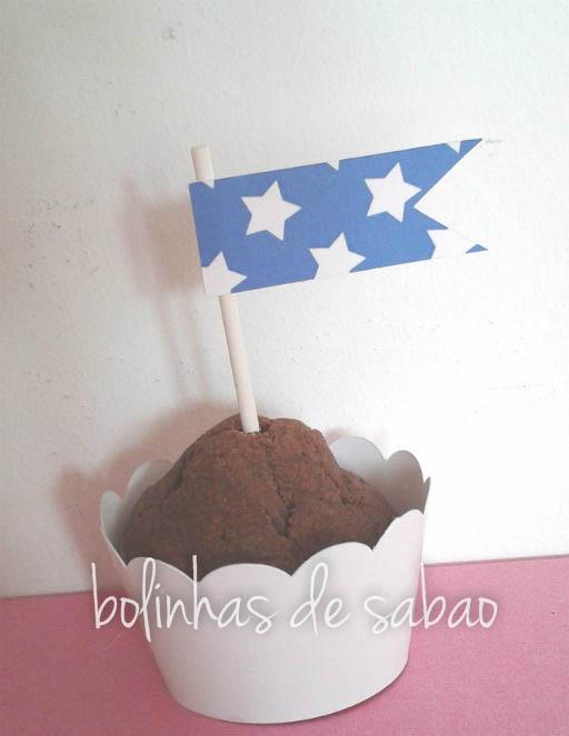Toppers Estrela 5 unidades - Azulão