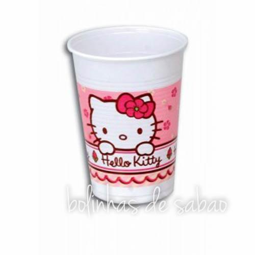 Copos Menina Hello Kitty - 10 unidades