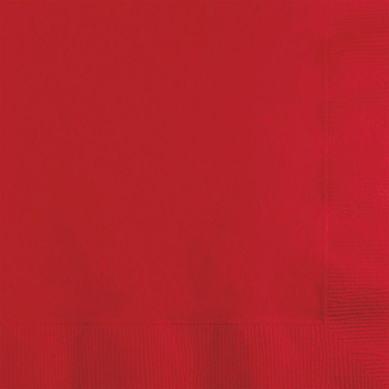 Guardanapos Lisos Vermelho - 20 Unidades