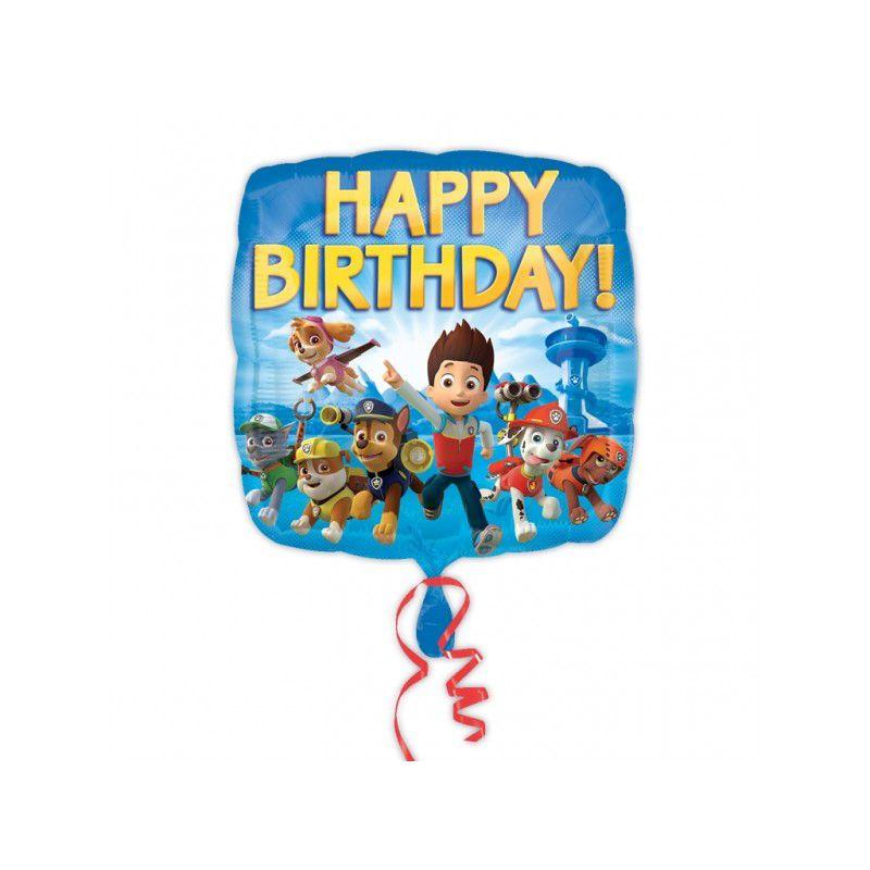 Balão Foil 18 Patrulha Pata Happy Birthday