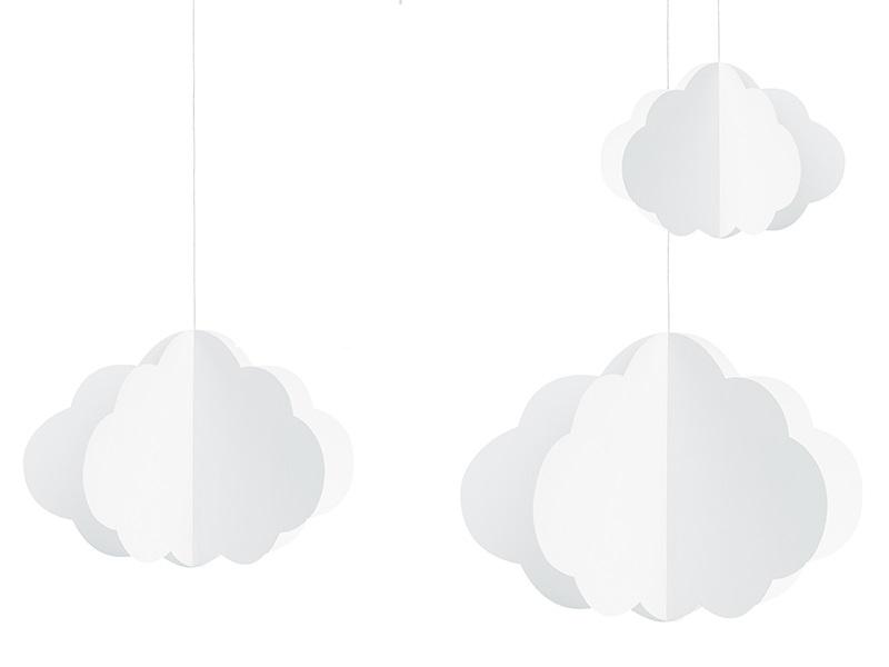 Decoração Nuvens - 3 unidades
