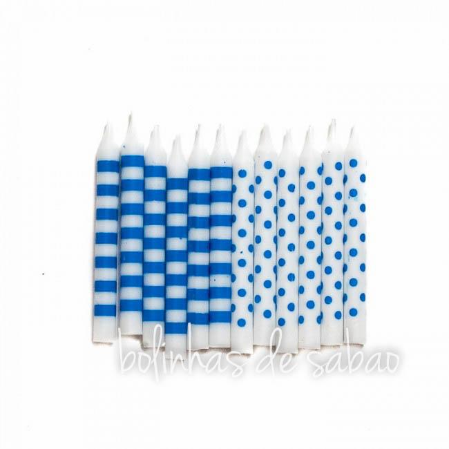 Velas Sortidas 12 unidades - Azul