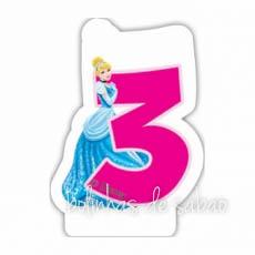 Velas Princesas - Números 3
