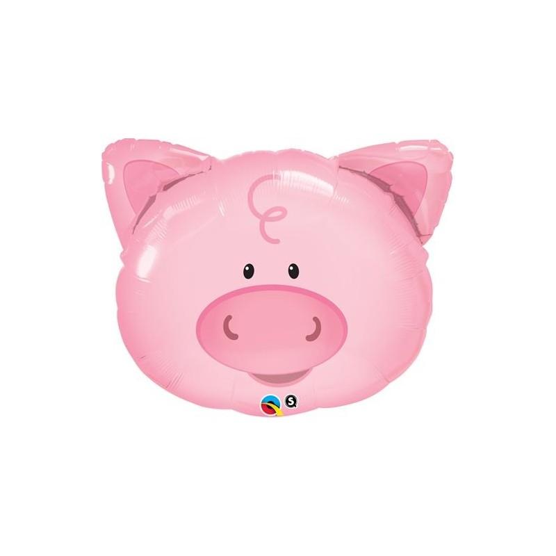 Balão Foil - Porco - Animais da Quinta