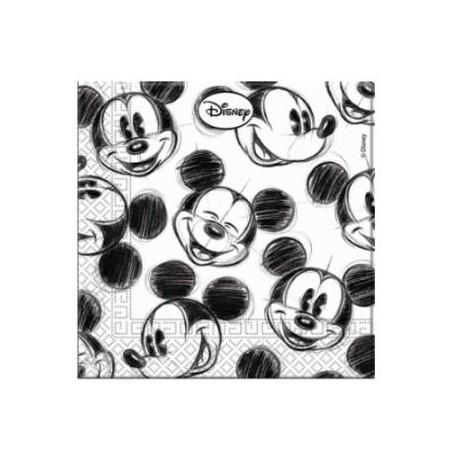 Guardanapos Mickey Black and White