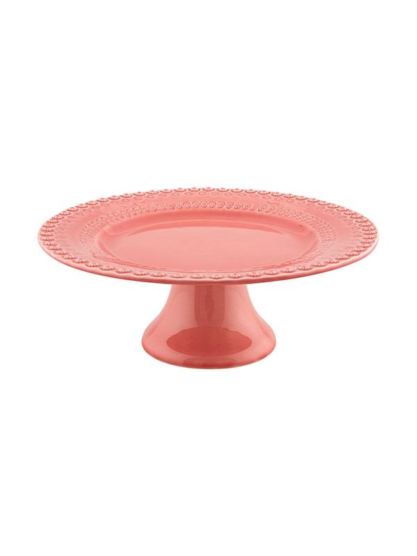 Prato de pé 34.5 cm - Rosa