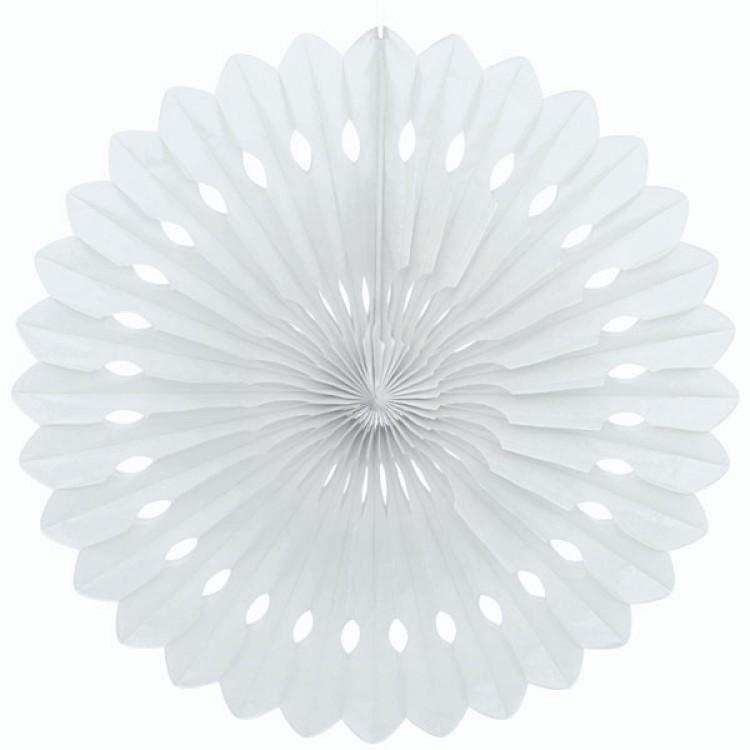 Roseta de Papel 40 cm - Branco