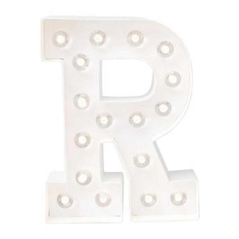 Letra R Luminosa