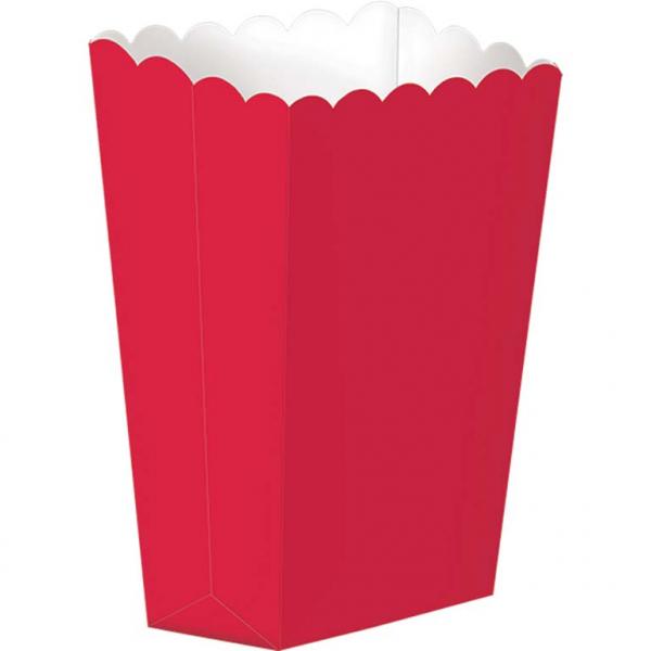 Caixas de Pipocas Lisas Vermelho -5 unidades