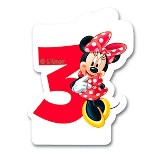 Velas Disney Minnie - Número 3