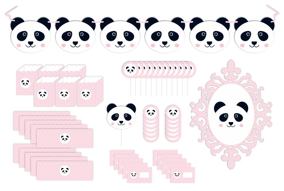 Kit Panda - Rosa