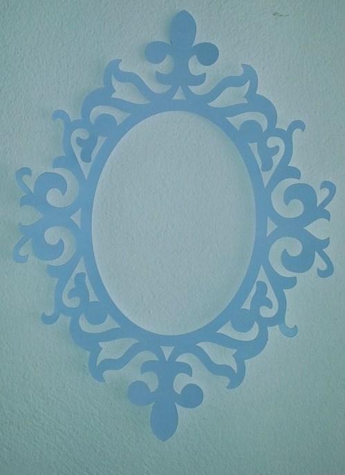 Moldura Lisas - Azul Claro