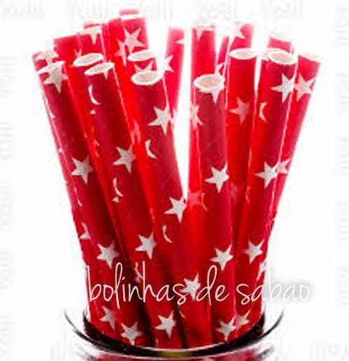 Palhas Estrela 25 unidades - Vermelhas