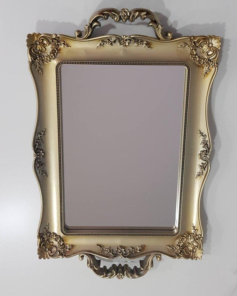 Bandeja Vintage Espelhada Dourada