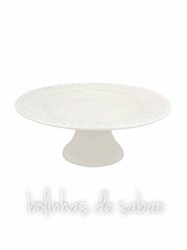 Prato de Pé 28 cm - Cinza Areia