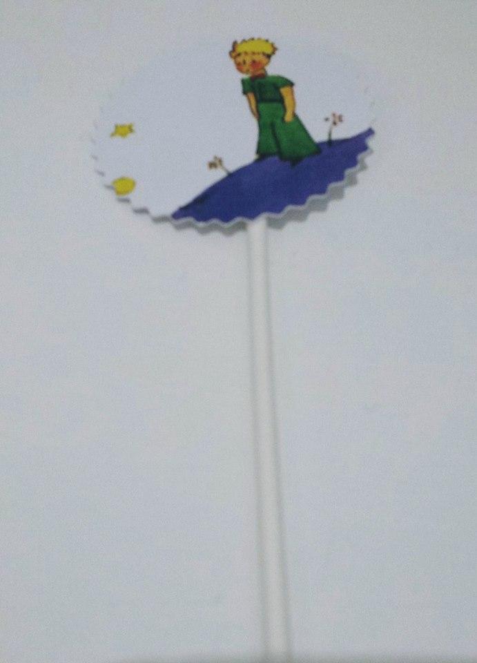 Toppers Principezinho Azul - 5 unidades