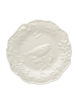 Prato Raso 25.5 cm - Alcachofra e Pássaro - Cinza Areia