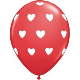 Balões Corações  Vermelho -  5 unidades