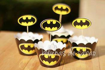 Cupcakes 5 unidades - Batman