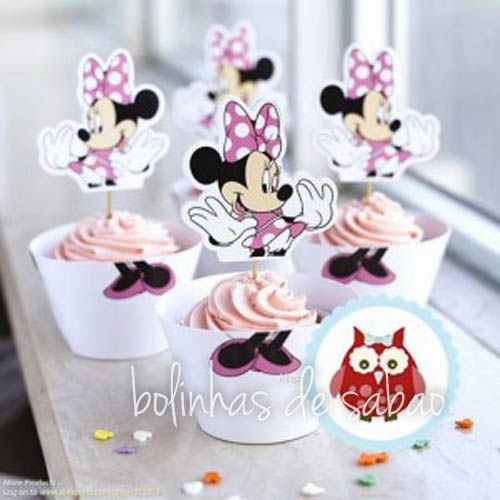 Cupcakes Disney 5 unidades - Minnie