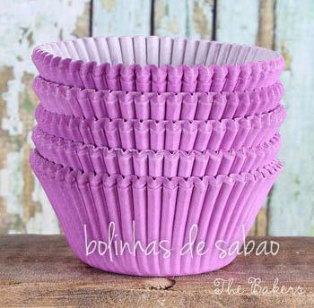 Cupcakes Lisos 60 unidades - Lilás