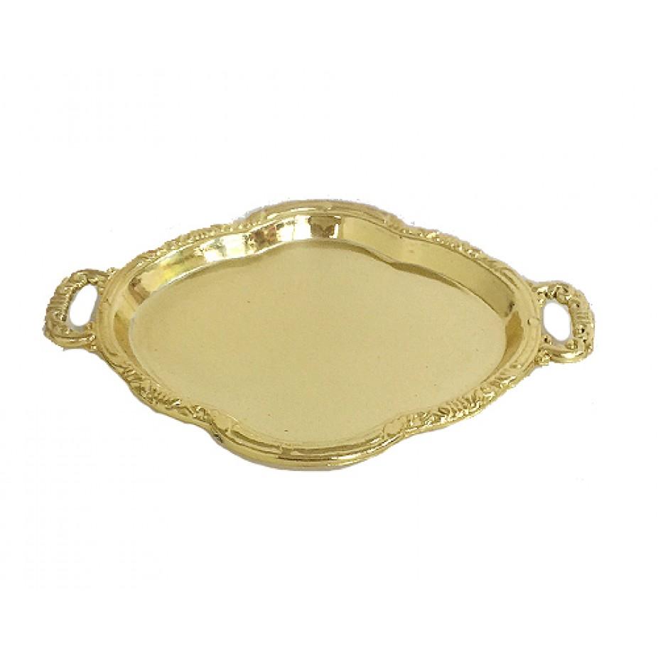 Bandeja Dourada - 11,5 cm x 5,5 cm