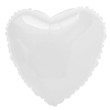 """Balão Foil Coração Branco- 18 """""""
