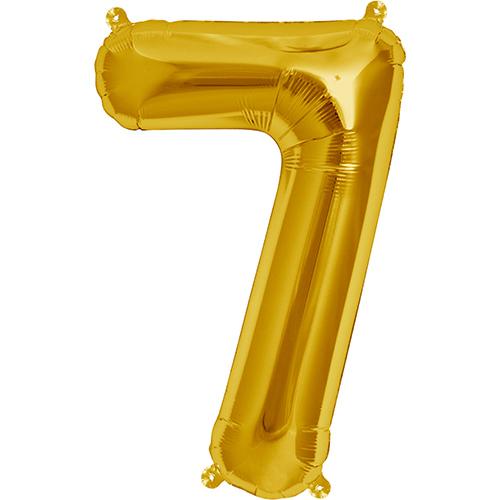 """Balão Foil 34 """"nº 7 Dourado"""