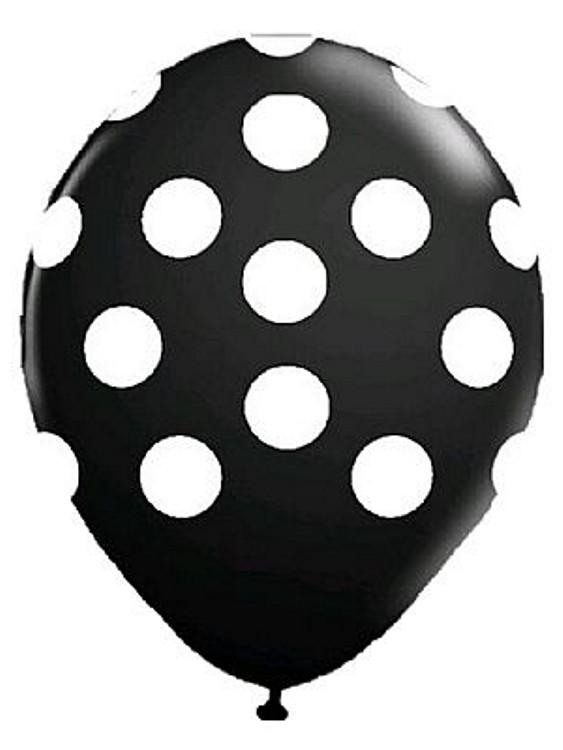 Balões Bolinhas 10 unidades - Preto