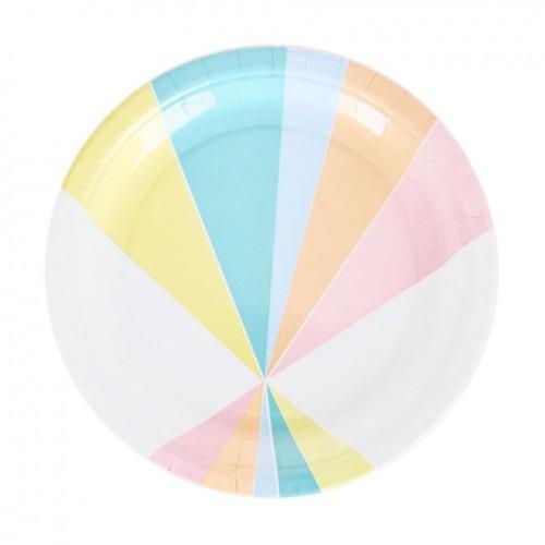 Pratos Pastel- 23 cm
