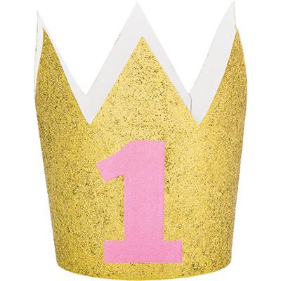 Mini Coroa 1º Aniversário -  e Dourado