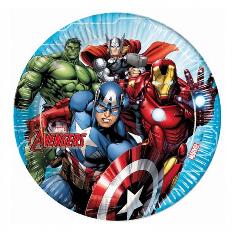Pratos Avengers - 23 cm