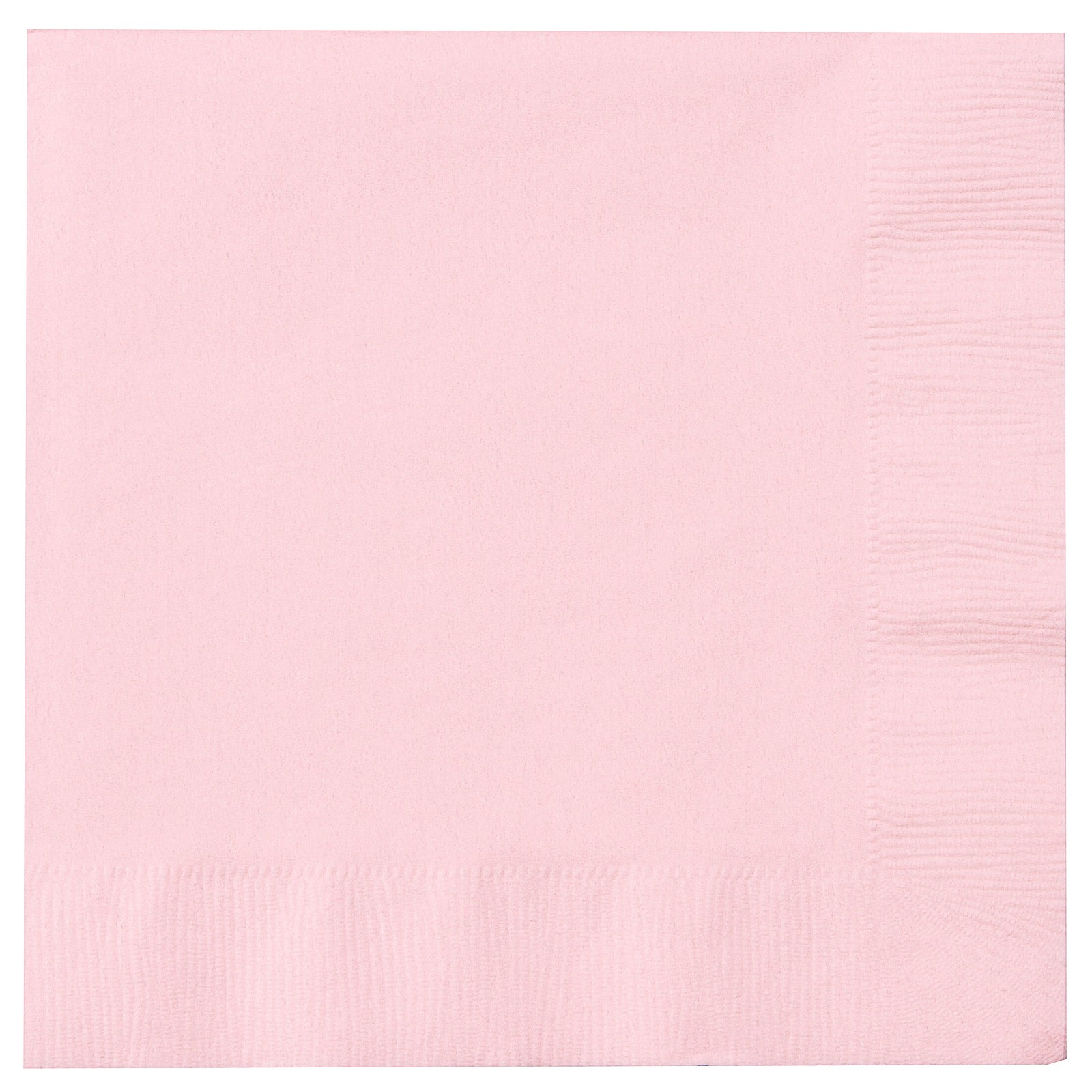 Guardanapos Lisos Rosa Bebé 33 cm - 20 unidades