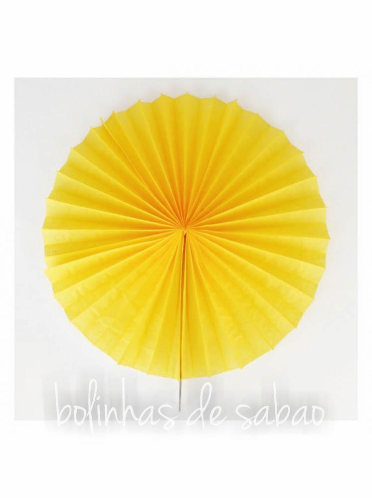 Roseta de Papel 41 cm - Amarelo
