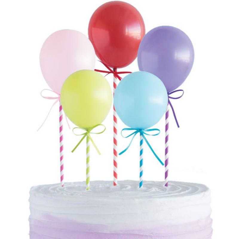 Topo 5 mini balões coloridos