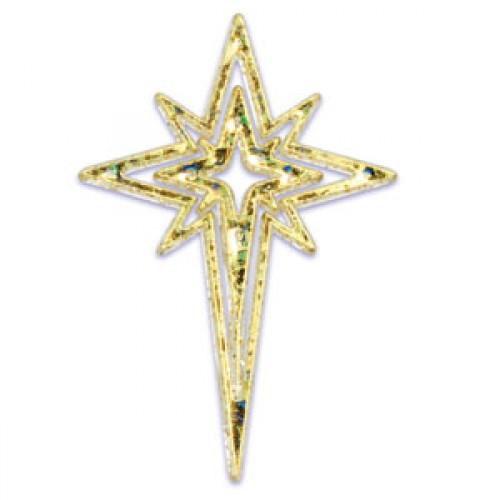 Toppers Forma de Estrela Dourado - 6 unidades