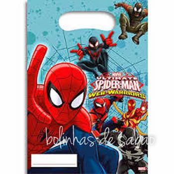 Saquetas 6 unidades - SpiderMan