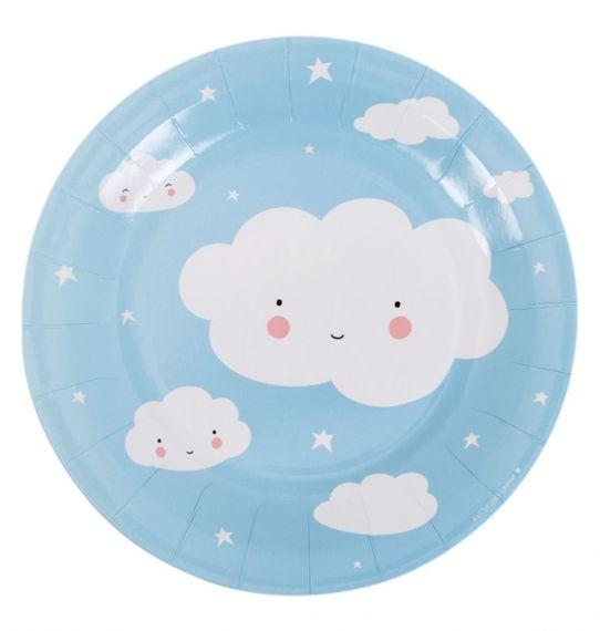 Pratos Nuvens Azul -  23 cm