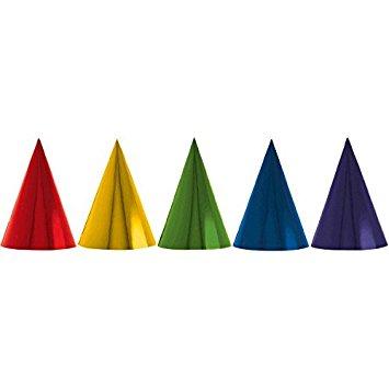 Chapéus Coloridos Metalizados- 12 unidades