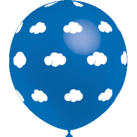 Balões Nuvens 5 unidades - Azul