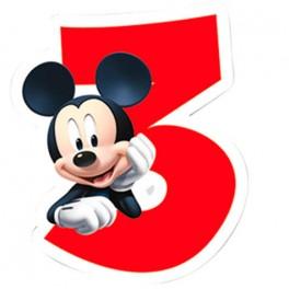 Velas Disney Mickey - Números 3