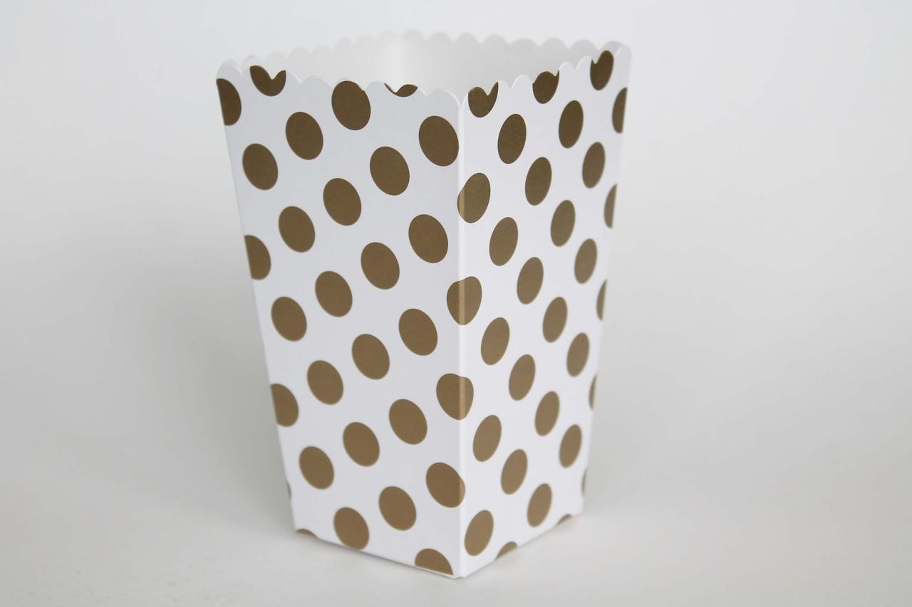 Caixas de Pipocas 8 unidades - Dourado Tamanho M