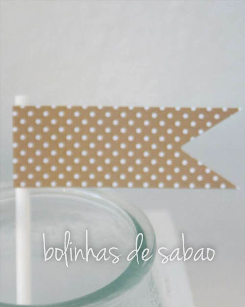 Toppers Pintas 5 unidades -  Beje