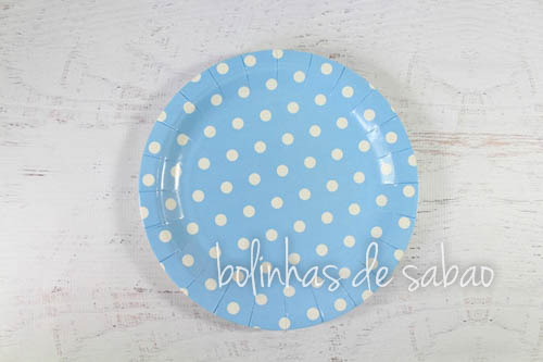 Pratos Pintas 18cm 10 unidades - Azul Claro